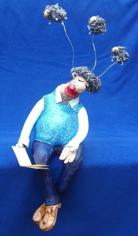 Anke-Rogalski-Lesender Mann