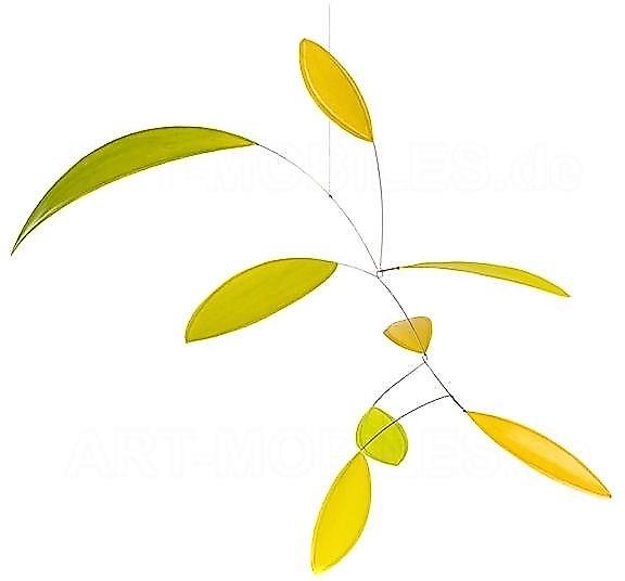 Annette-Rawe-littel-leaf-mobile-rawe-gelb